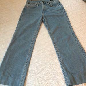 Rag & bone wide leg high waist jeans